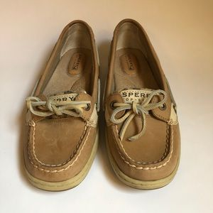Sperry Top Sider Leather Cheetah Boat Shoes
